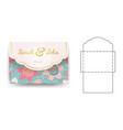 envelope wedding invitation template vector image