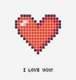 pixel heart Concept vector image
