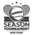 vintage tennis logo template vector image