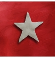 White star on red background vector image