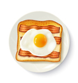 Breakfast Sandwich Top View Realistic Image vector image