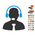 support chat icon with lovely bonus vector image
