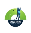 Golf logo design template sports or game vector image