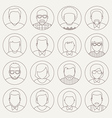 Line Avatars vector image vector image