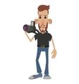 Photographer cartoon icon vector image
