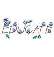 EDUCATE vector image vector image