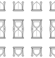 Hourglass Seamless pattern Flat icon vector image