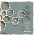 Retro design bubbles on grunge background vector image