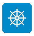 boat steering wheel icon vector image