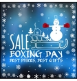 Boxing day card vector image
