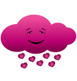 Cloud in love vector image
