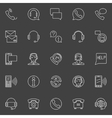 Customer service linear icons vector image