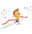 finishing runner with finished ribbon vector image