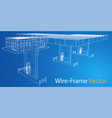 gas station wire frame vector image