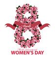 greeting card for women day vector image