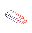 line data usb memory to save documents vector image