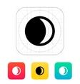 Waxing crescent moon icon vector image