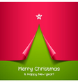Christmas tree made of paper vector image vector image
