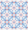 blue red pattern flower tile background vector image