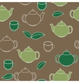 Tea Seamless Pattern Background vector image vector image