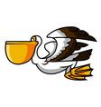 Pelican Bird vector image vector image