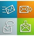 Mail envelopes set vector image