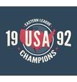 USA League Champions t-shirt apparel fashion vector image