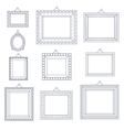 Line Art Frame Photo Picture Painting Decoration vector image vector image