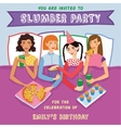 Slumber Party Birthday Invitation With Four Cute vector image