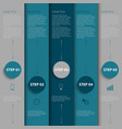 Info graphic with design blue and gray stripes vector image