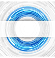 Abstract technology circles and transparent paper vector image