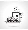 Breakfast black line icon vector image