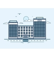 city street with bank banking house modern vector image