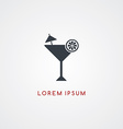 cocktail restaurant theme icon sign logotype vector image