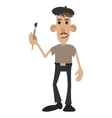 French painter cartoon vector image