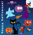 funny halloween vector image