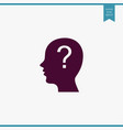 human with question icon simple user vector image