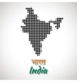 India Map black color dotted design vector image