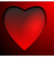Red glass Heart isolated on gradient background vector image