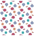 Seamless Pattern with fig fruits and leaves vector image