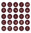 Shopping and Retail related icons set vector image