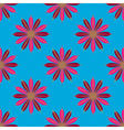 Geometric seamless pattern with flower in red and vector image