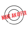 make an offer rubber stamp vector image