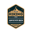 nature hiking adventures vintage isolated badge vector image