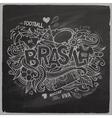 Brazil 2014 On Chalkboard vector image
