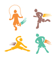 Active boys fitness sports set 4 vector image