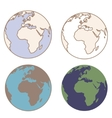 Earth in vintage colors vector image vector image