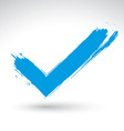 Hand drawn validation icon scanned and brush vector image