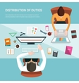 for office workers vector image