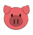 animal face cartoon icon image vector image